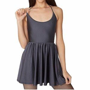 American Apparel Gray Halter Skater Dress L Large